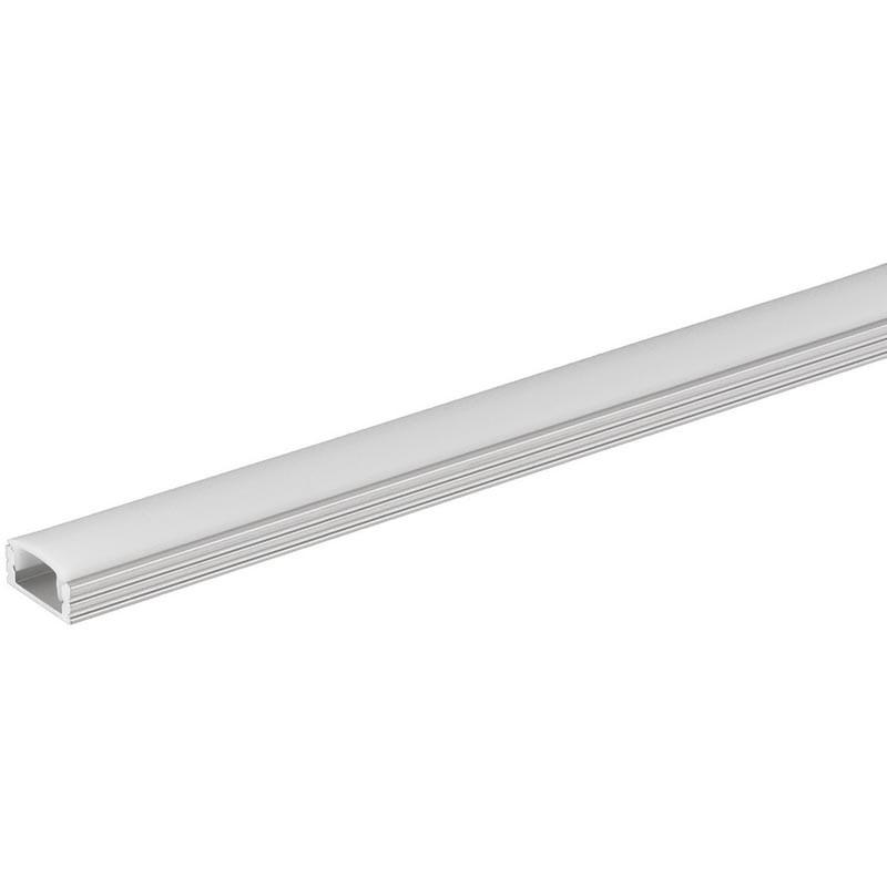 Perfil de aluminio para led U-BASIC de 2 metros ALUMINIO