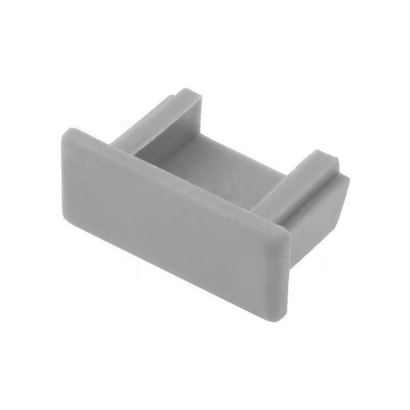 Tapas para perfil de aluminio U-BASIC (2 unidades)