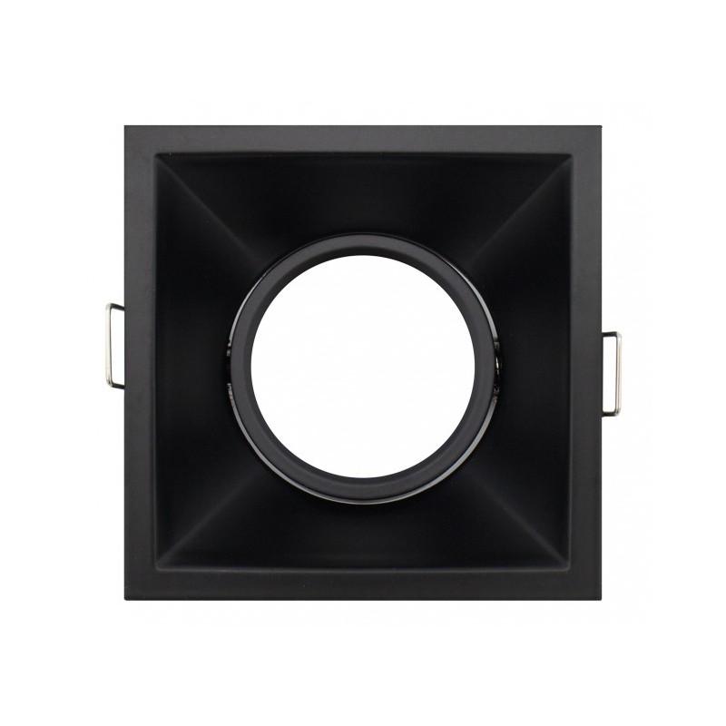 Aro basculante CUADRADO 90º PROFESIONAL GU10 / MR16 color NEGRO