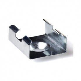 Grapa cromada para perfil de aluminio 15.2x6mm