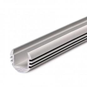 Perfil de aluminio para led 18.4x15.8mm 1 metro