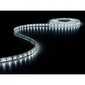 Tira de led flexible de 5 metros SMD 5050 60 led / m Blanco Frío 6000 / 6500 K protección IP68