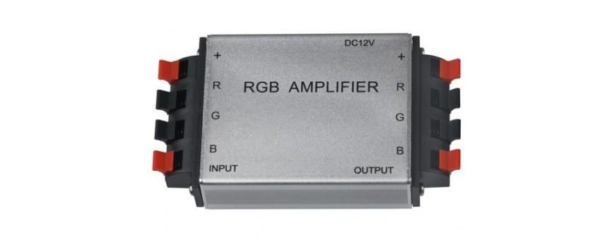 amplificador rgb, amplificador para tiras rgb, ampliled, amplificador para tiras led