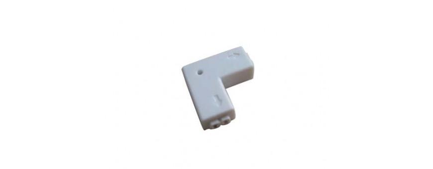 conectores en L para tiras de led, hacer esquinas con tiras de led,