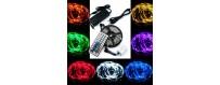 Kit RGB para interior sin protección al agua de tiras 5050 con 30 y 60 led/m