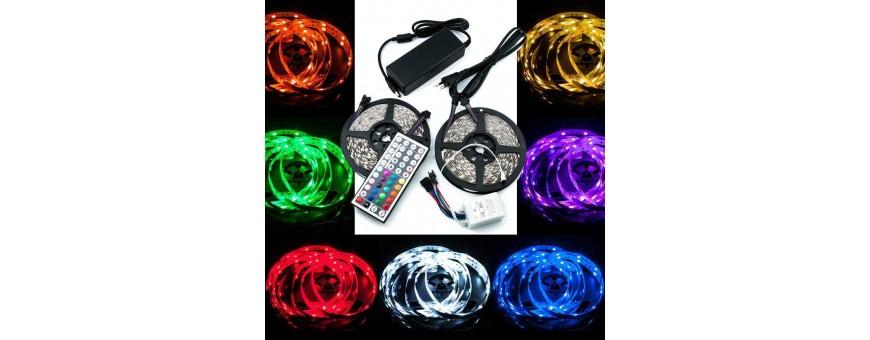 Kit RGB para exterior com protección al agua IP65 de tiras 5050 con 30 y 60 led/m