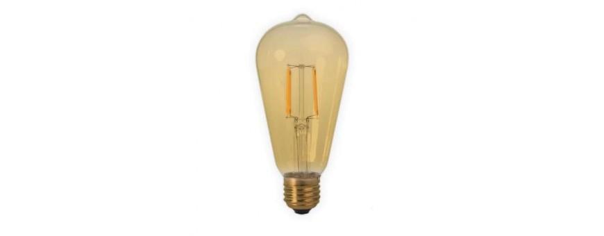 Bombillas y accesorios tipo Vintege para LED y bombillas de carbono.