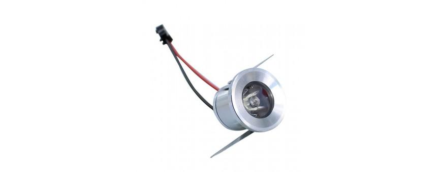 Downlight pequeño empotrable en escayola o madera LED bajo consumo
