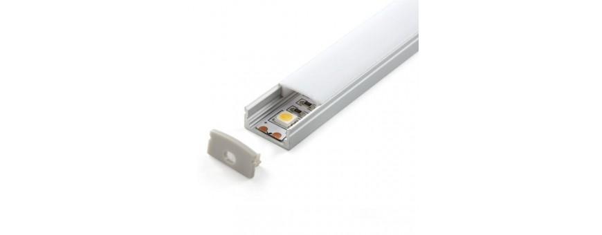 Perfil de aluminio para colocar en superficie modelo LP1706 economico