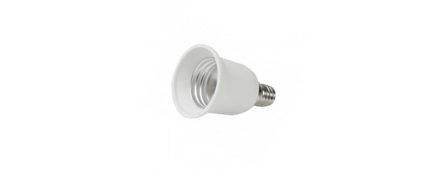 Adaptadores y conversores de casquillos de lamparas tradicionales y lamparas led.
