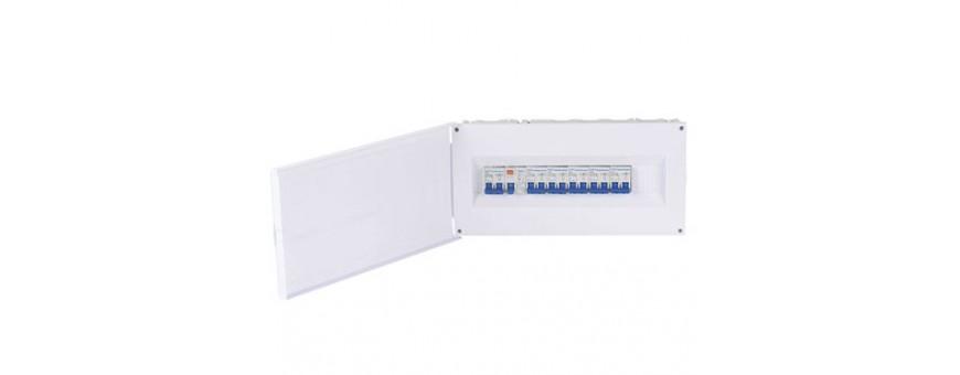 Cuadros electricos varios tipos, instalacion en superficie y empotrabl