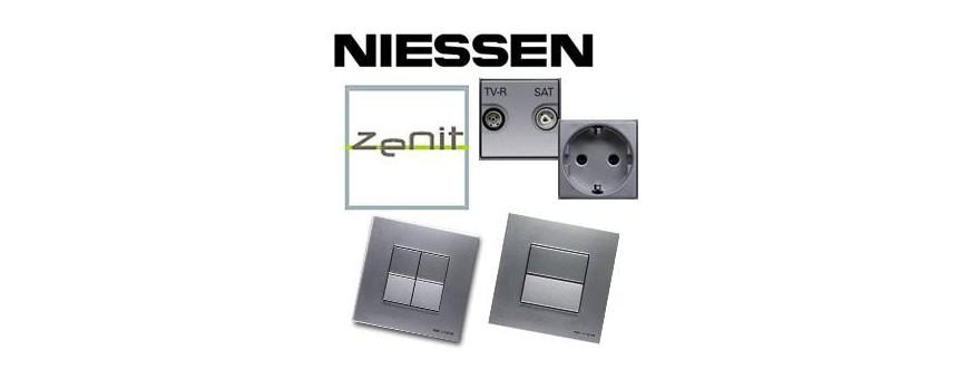 Mecanismos de la serie Zenit de la marca Niessen (Grupo ABB) color Plata