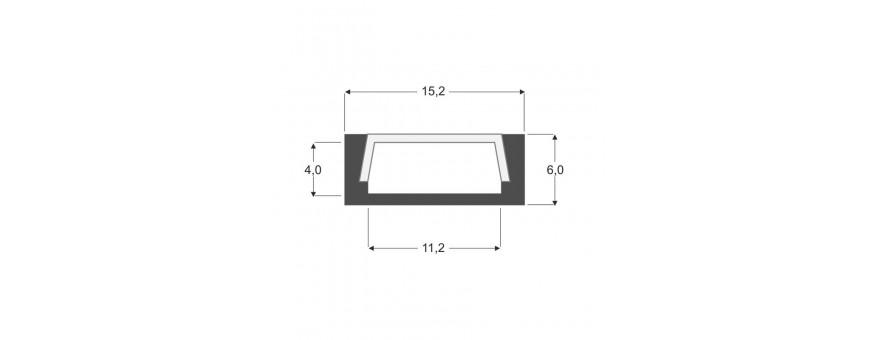 Perfil de aluminio para tira de led de 10 mm