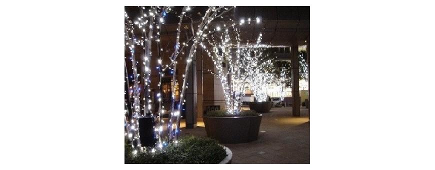 Iluminacion LED decorativa para fiestas y motivos navideños.