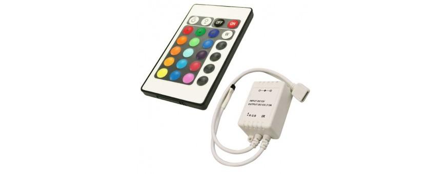 Controladores RGB con mando a distancia y/o dimmers